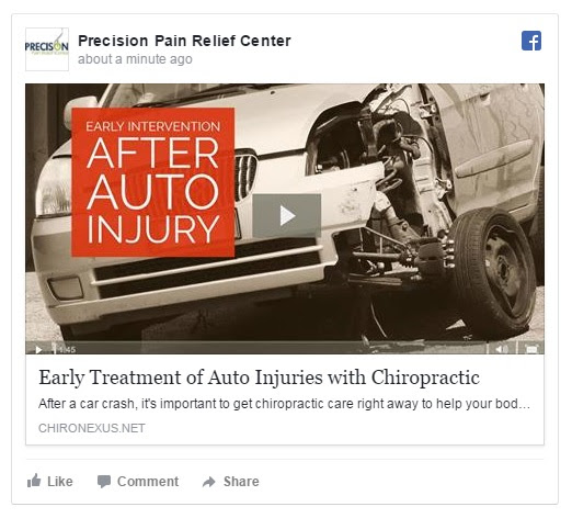 Chiropractic for Early Treatment of Auto Injuries